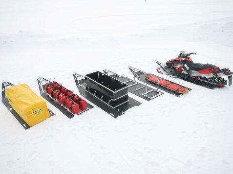 Какие бывают сани для снегохода