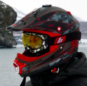 Кроссовый шлем для снегохода
