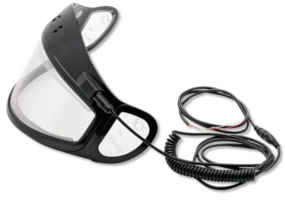 Визор с подогревом для шлема