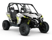 2016 Maverick 1000R TURBO White Light Grey - Manta Green_3-4 front копия