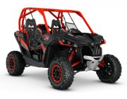 2016 Maverick X rs 1000R TURBO Carbon Black - Can-Am Red_3-4 front