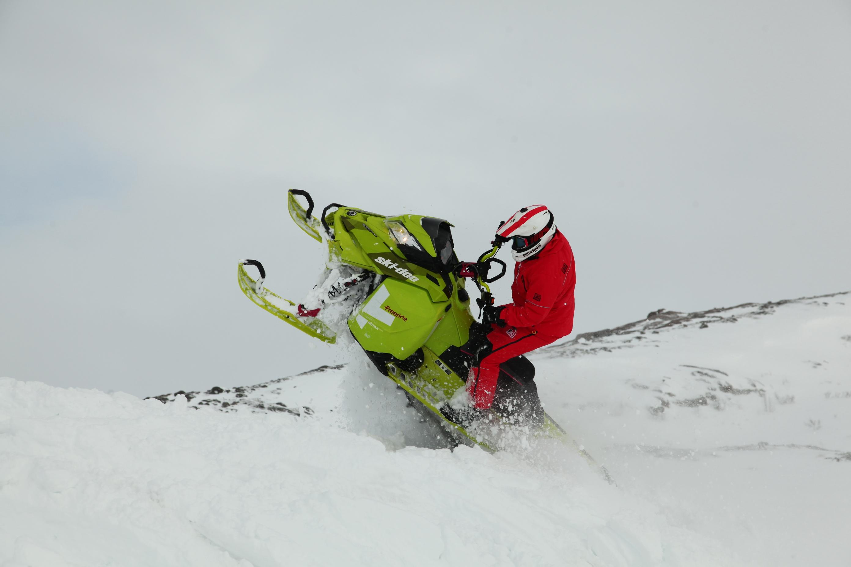 Скорость снегохода