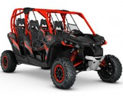 2016 Maverick MAX X rs 1000R TURBO Carbon Black - Can-Am Red_3-4 front