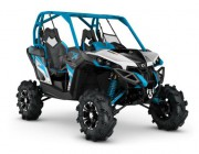 2016 Maverick X mr 1000R Hyper Silver, Black - Octane Blue_3-4 front